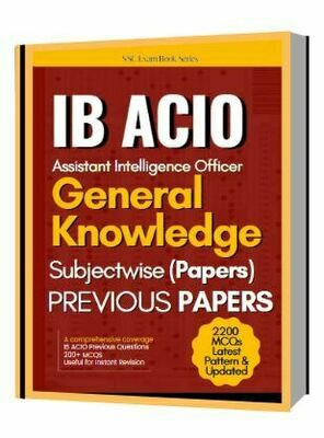 IB ACIO Previous Papers General Knowledge Chapterwise