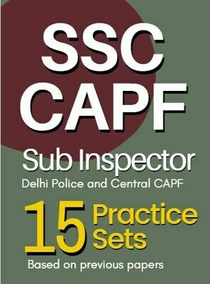SSC CAPF Sub Inspector Practice Sets Tier 1 in Hindi