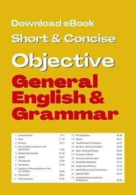 General Objective English for Competitive Examination