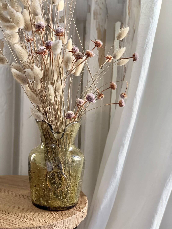 Vase pichet verre bullé