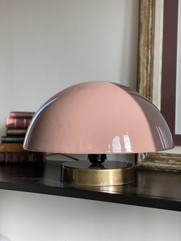 Lampe demi sphère rose