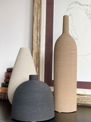 Tanga - trio de vases céramique
