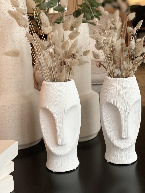 Moaï vase céramique blanc