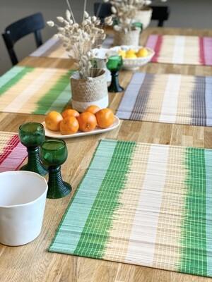 Set de table - Lot de 2 - Vert