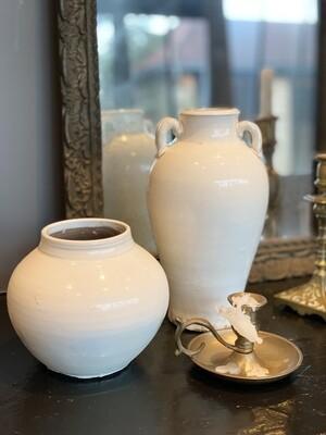 Set de 2 vases blancs