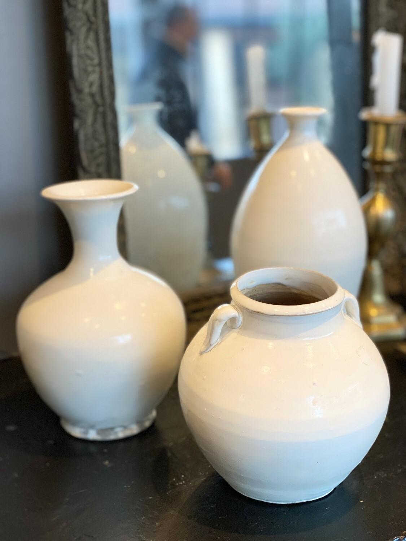 Set de 3 vases blancs
