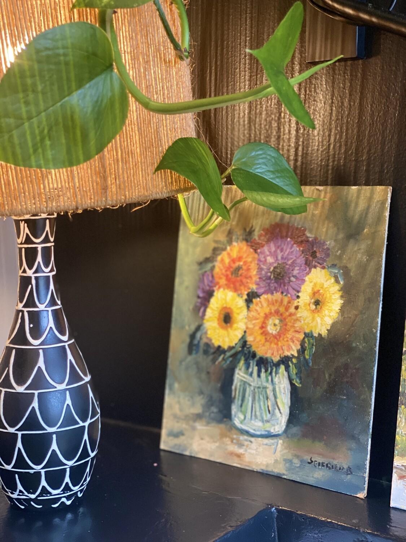 Nature morte bouquet - peinture originale