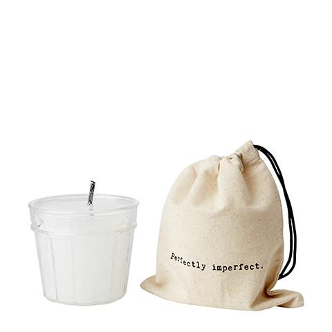 Bougie d'extérieur et son sac en tissu