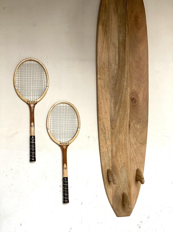 Paire de raquettes de tennis vintage
