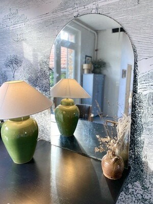 Miroir ancien arrondi