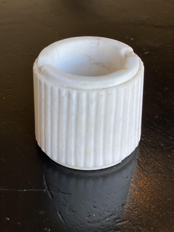 Cendrier marbre blanc ancien