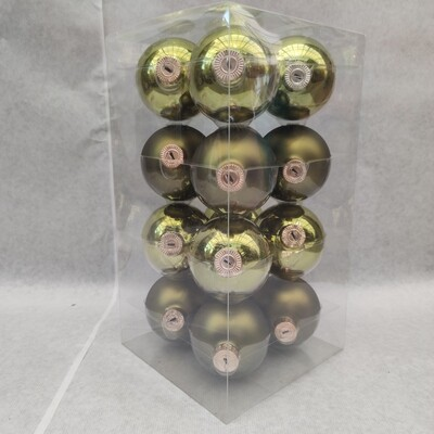 Christbaum kugeln 8 cm Glas