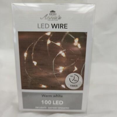 Led Licht Batterie -betrieben (ohne Batterie) 5 Meter- 100 Led