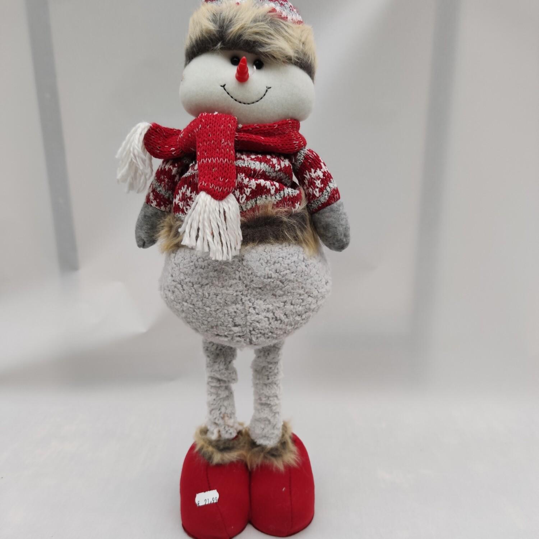 Schneemann ausziehbare Beine cm 65