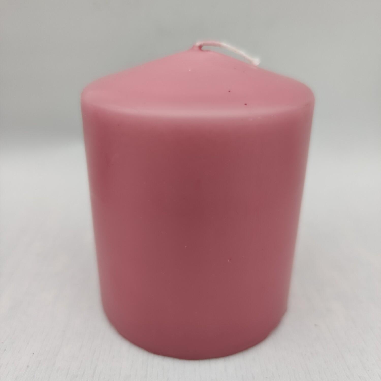 Kerze 10x8 cm Erdbeerrosa