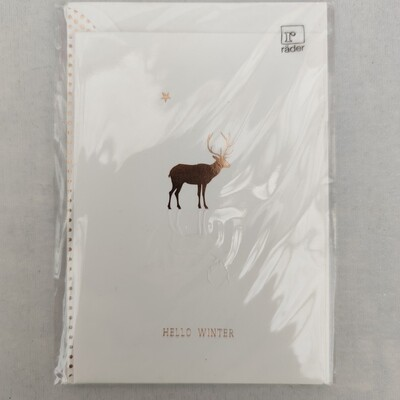 Gußkarte Hello Winter cm 11,5x17,5