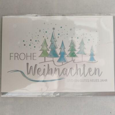 Gruß Karte Frohe Weihnachten cm 115x17,5