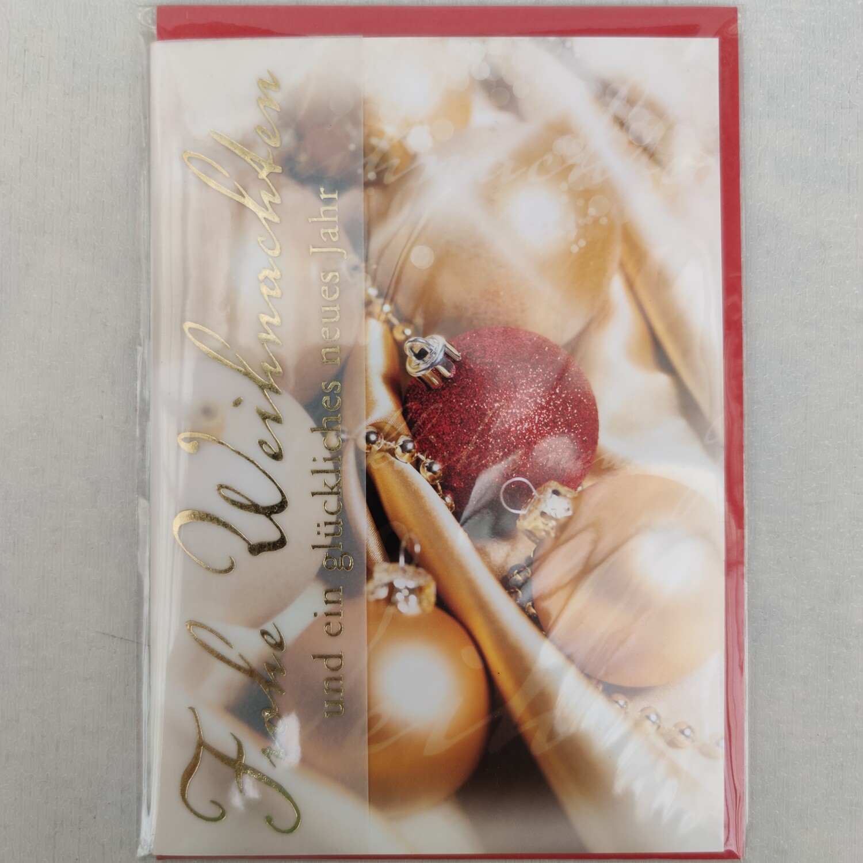 Grußkarte Frohe Weihnachten cm 11,5x17,5