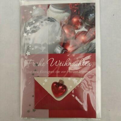 Gruß Karte Frohe Weihnachten und....cm 11,5x17,5