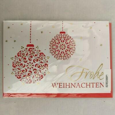 Karte Frohe Weihnachten cm 11,5x17,5
