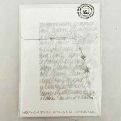 Karte MERRY CHRISTMAS mit deko cm 11,5x17,5