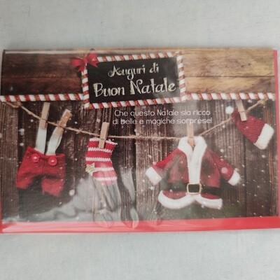 Karte Auguri di Buon Natale cm 13,5x8,5