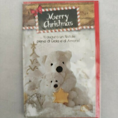 Merry Christmas (italienisch) cm 8,5x13,5