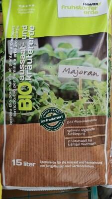 Hochwertige Bio Aussaat und Kräuter Erde Torfreduziert