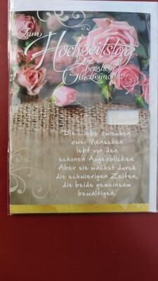 Hochzeitstag - Karte