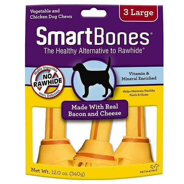 Smartbones Made With Real Bacon & Cheese  3 Large 340G