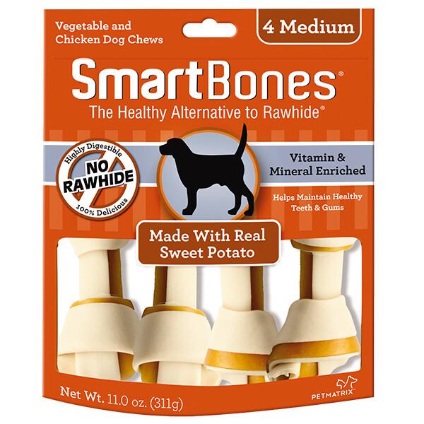 Smartbones Made With Real Sweet Potato 4 Medium 311G