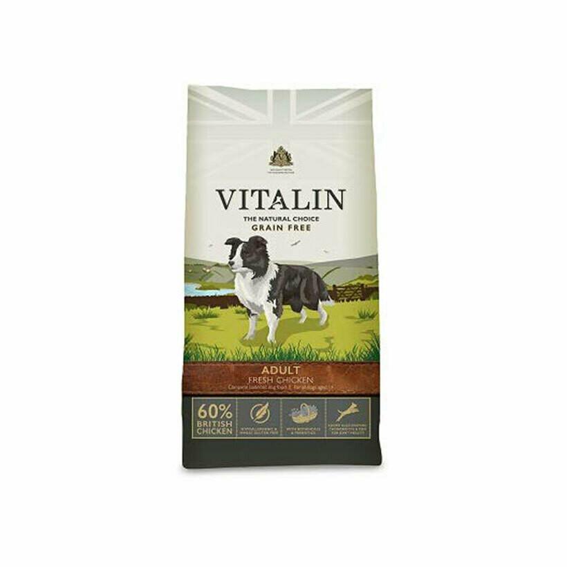Vitalin dog adult fresh 60% chicken 2kg