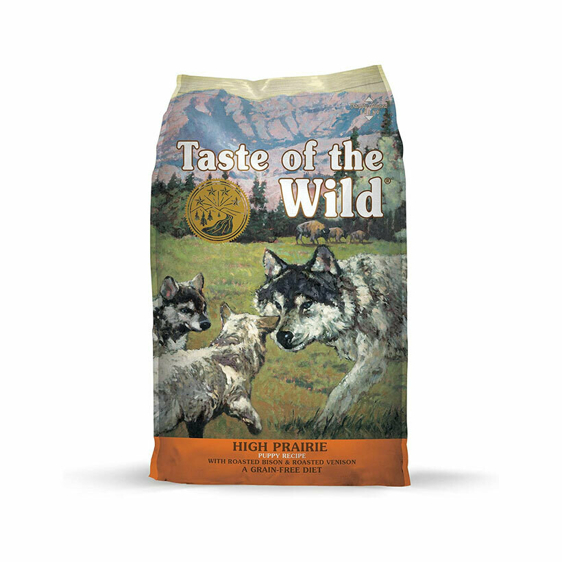 Taste of the wild dry food high prairie puppy formula with bison & roasted venison 13kg