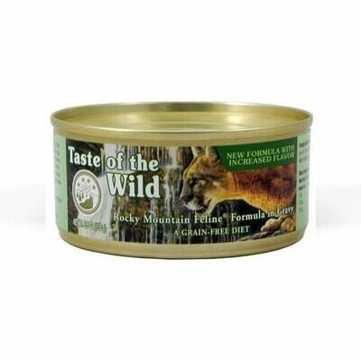 Taste of the Wild river feline with roasted venison & salmon in gravy 155gr