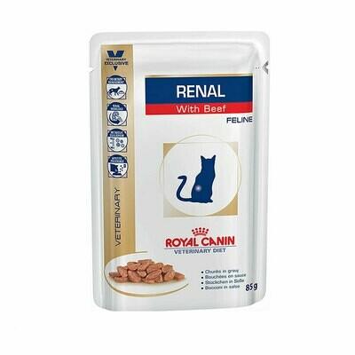 Royal Canin wet feline renal beef  85gr