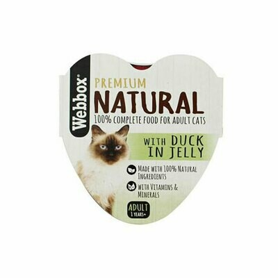 Webbox natural wet food with duck in jelly 85g