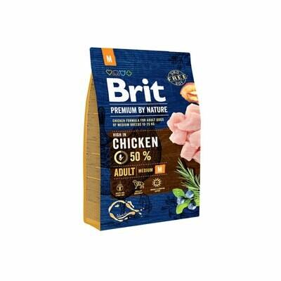Brit premium dog food 45% chicken 1kg for adult medium breeds 10-25 kg