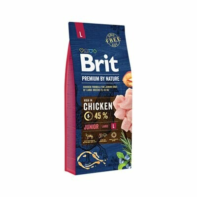 Brit chicken formula for junior large dog breed dogs 25-45 kg 45% chicken 15kg