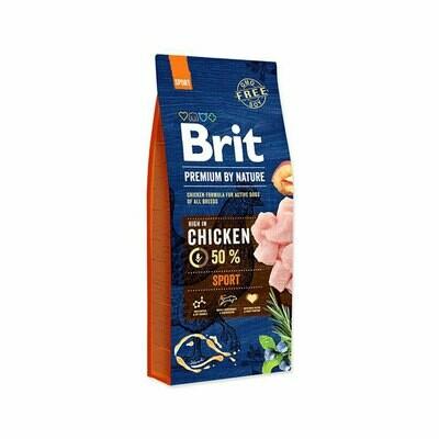 Brit 50% chicken formula for active dog all breeds 15kg