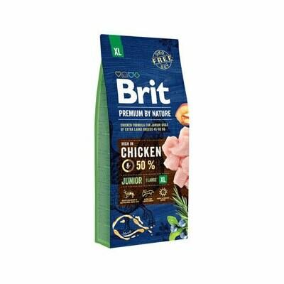 Brit dog XL breed 50% chicken formula for junior dogs 45-90kg 15kg