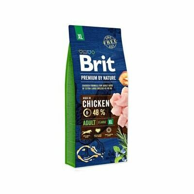 Brit dog XL breed 50% chicken formula for adult dogs 45-90kg 15kg