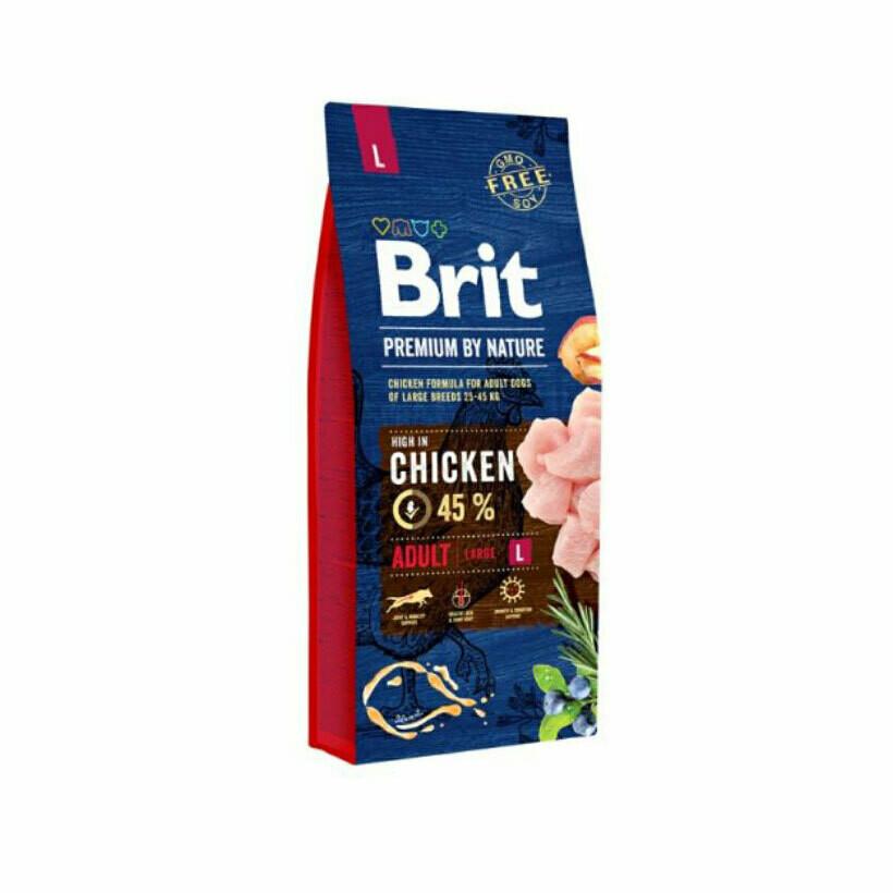 Brit dog adult large breed 45% chicken 15kg