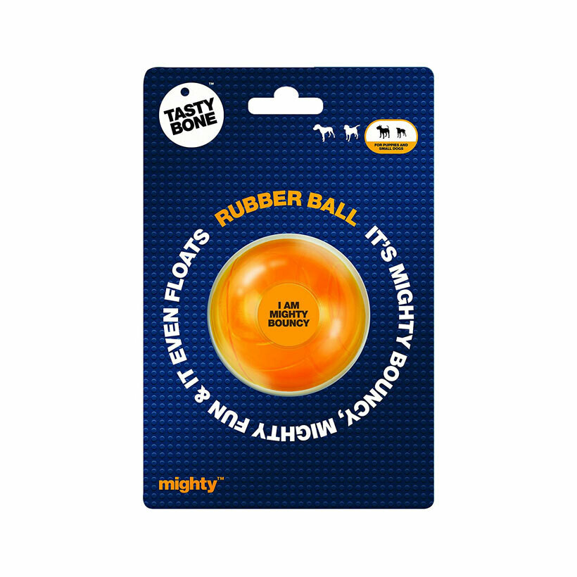 Mighty rubber ball bounce & float for puppies and small dogs