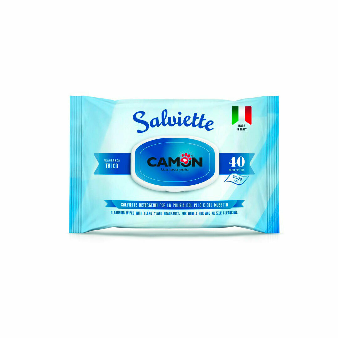 Camon talco salviette cleaning wipes 30x20cm 40 pieces