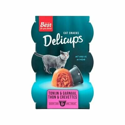 Delicups cat snack tuna & shrimps 6x22grs cups