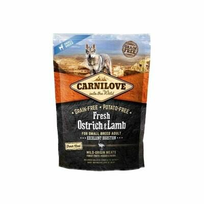 Carnilove dog wild original fresh ostrich & lamb adult small breed 1.5kg