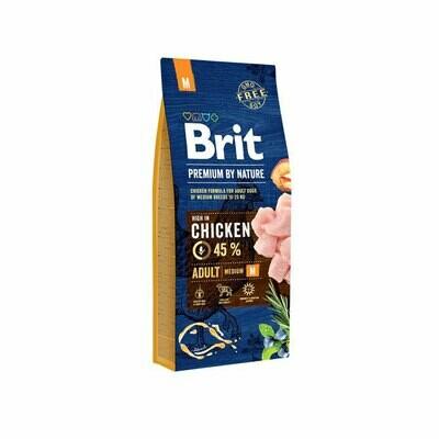 Brit dog adult medium breed 45% chicken 15kg