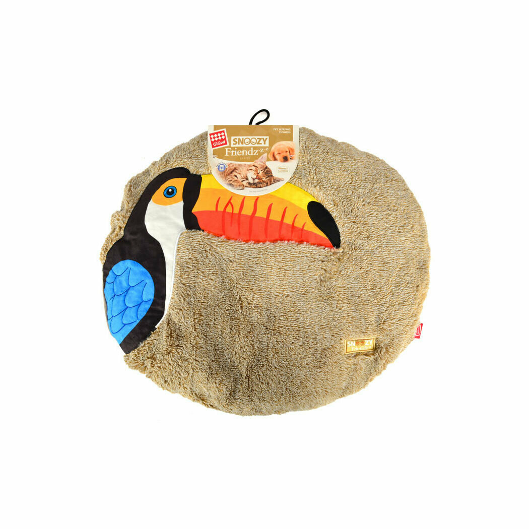 Gigwi snoozy friendz sleepy cushion bird