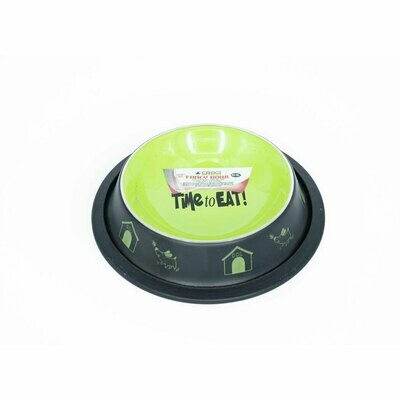 Croci steel fancy bowl green 160ml