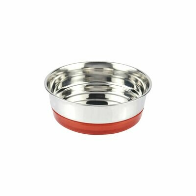 Croci steel bowl fluo rosso 820ml